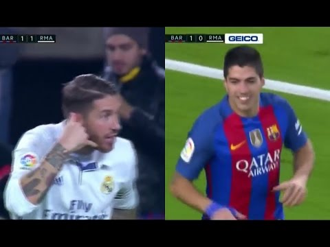 FC Barcelona vs Real Madrid 1-1 - La Liga 2016/2017 - Full Highlights English Commentary