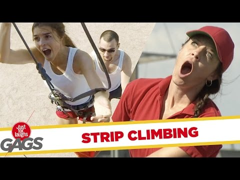 The Ultimate Wall Climbing FAIL - Just For Laughs Gags
