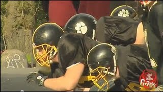 Spontaneous Football Game Prank