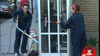 Phone Booth Cleaning Prank