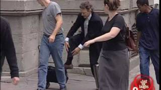 Tying laces hidden camera prank