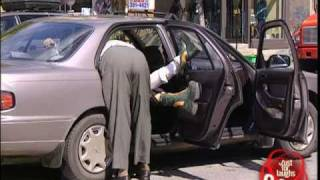 Injured woman can't fit in cab