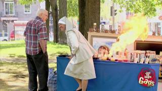 Nun Lights Fart On Fire